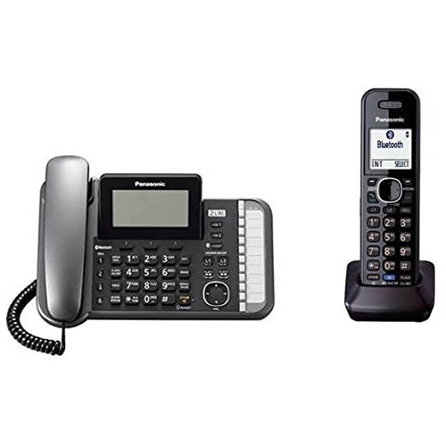 Panasonic KXTG9582B 2 -Line Corded/Cordless Expandable Link2Cell Telephone System with Two Cordless ()