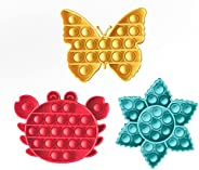 Warju Pop Fidget Toys 3 Pack, Great for Kids and Adults