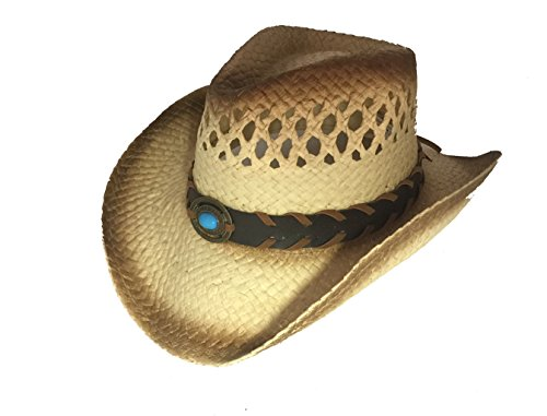 EZ Gifts Women Men's Western Style Cowboy / Cowgirl Straw Woven Shapeable Hat NEW!