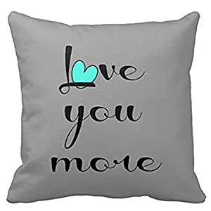 Kieffer shop love you more Pattern 1 18*18 inch cotton pillowcase