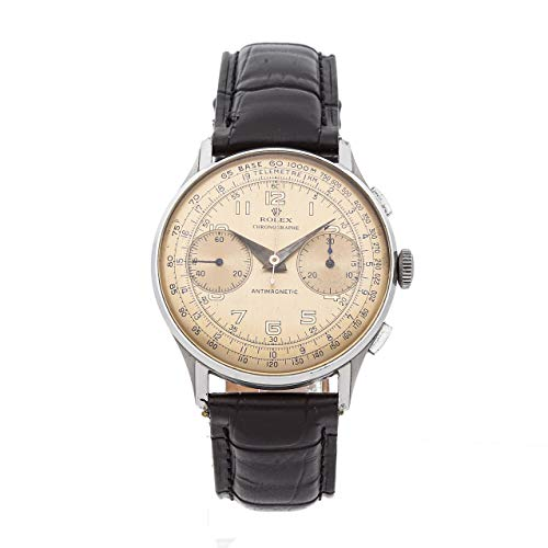Rolex Vintage Chronograph Mechanical (Hand-Winding) Patina Dial Mens Watch 3834 (Certified Pre-Owned)