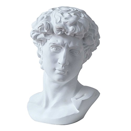 - LKXHarleya 11.8 Inch Classic Greek Michelangelo David Bust Statue Replica Sculpture Figurine for Artist