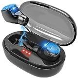Wireless Earbuds QDTT DR10 True Wireless Earbuds Bluetooth 5.0 Headphones Deep Bass Stereo Sound IPX7 Waterproof Auto Pairing in-Ear Bluetooth Headphones with Charging Case