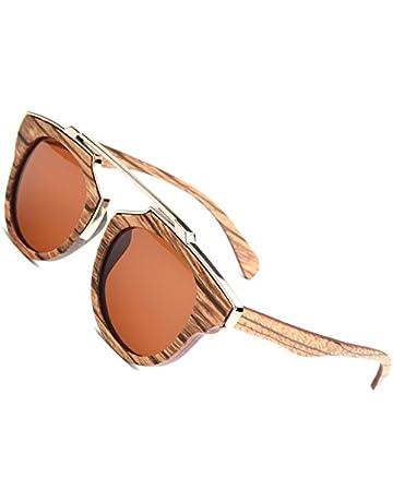 91a4044385 Ablibi Skateboard Wood Sunglasses Polarized Mens Retro Brand Designer Wood  Shades for Women