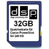 DSP Memory Z-4051557320727 32GB Speicherkarte für Canon PowerShot SX 240 HS
