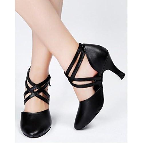 54d06088 Delicado MUYII Zapatos De Mujer Zapatos De Baile Modernos Zapatos De Suela  Suave De Tacón Alto