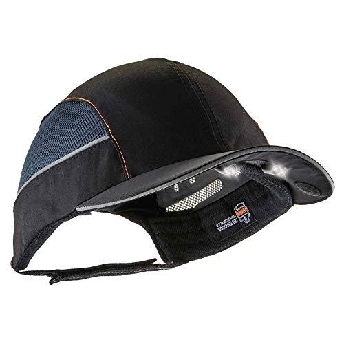 Baseball Style Hats (Safety Bump Cap with LED Brim Lighting, Baseball Hat Style, Short Brim, Ergodyne Skullerz)