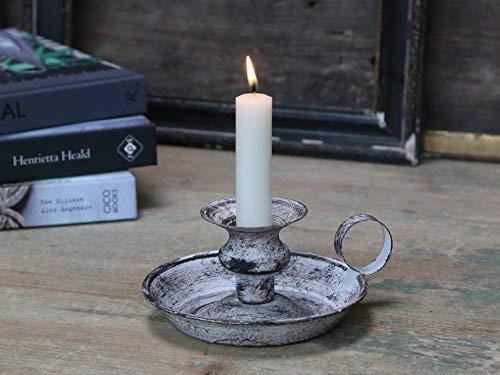 Chic Antique Candelabro Candelabros Candelabros de cámara Antiguo Gris Shabby