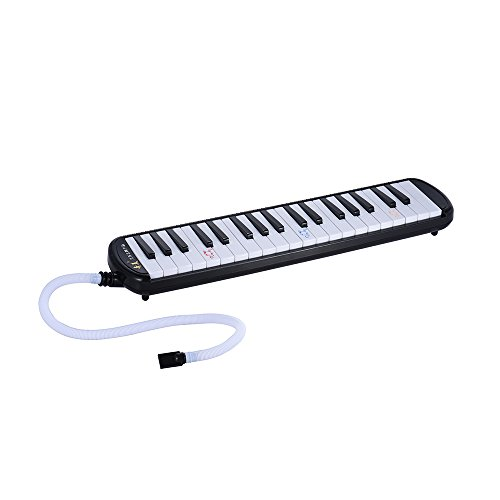 ammoon 37 Piano Keys Melodica Musical Education Instrument (37 keys Black)