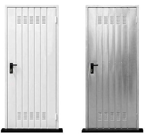 Puerta para bodega galvanizada con manija y cerradura, para ...
