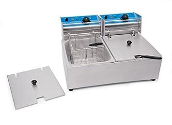 Freidora doble 2 x 5, 5 litros 230 V/2500 W dimensiones 53 x 42 x 30 cm Producto con certificación CE: Amazon.es