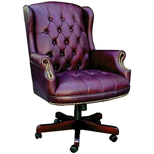 Pemberly Row Faux Leather Upholstered Office Chair in - Chair Upholstered Caressoft