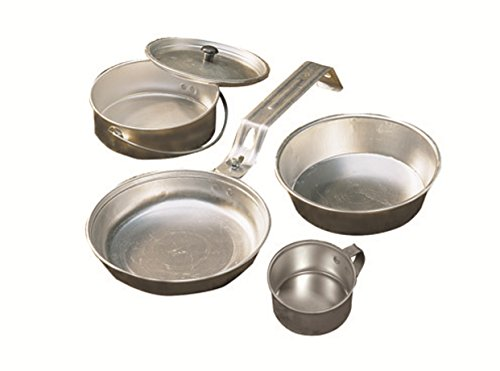 Coleman 5-Piece Aluminum Mess Kit made our list of Campfire Cooking Equipment You Can't Live Without with the best tools, accessories, utensils and cookware for your camp cooking creations!