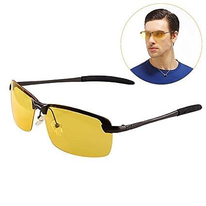 Haihuic Noche de conducción antideslumbrante HD gafas ...