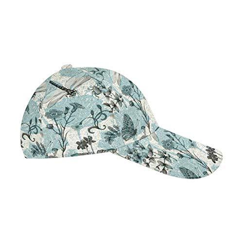 - InterestPrint Butterflies Dragonflies and Plants Men Women Cotton Adjustable Twill Dad Cap Baseball Hat
