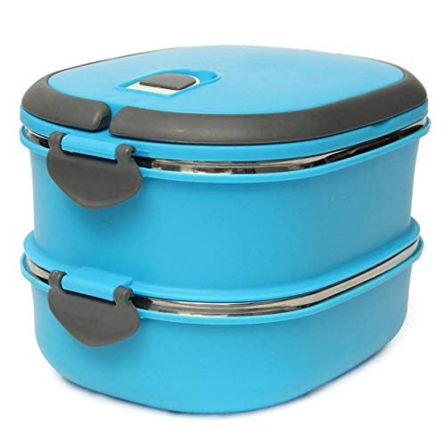 Snack Pottery - Dinnerware Sets - Compact Lunch Box Stainless Steel Two Layers Warmbox Bento Picnic Snack Dose Tea Food Storage - Kids Pink Pottery Gray Nautical Woman Gold Teal Vintage Porcelain Plastic Turquo