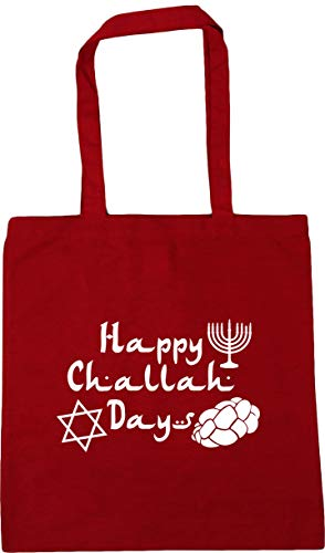 HippoWarehouse Classic Days Bag Happy Hanukkah 10 litres 42cm Shopping Challah x38cm Beach Tote Red Gym UwHrU4
