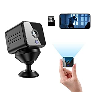 Flashandfocus.com 41g-u%2BmzSKL._SS300_ Mini Hidden Spy Camera HD 1080P Wireless WiFi Nanny Cam with Audio Live Feed Night Vision and Motion Detection Portable…