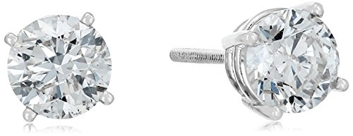 14k-Diamond-with-Screw-Back-and-Post-Stud-Earrings-J-K-Color-I2-I3-Clarity