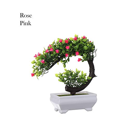 Coolso 1 PC Plastic Flowers Fake Plants Wedding Home Decor Desktop Ornament Welcoming Pine Simulation Bonsai Artificial ()