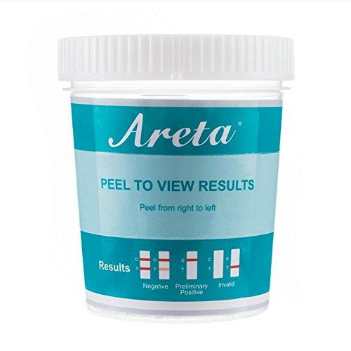 100 Pack Areta 12 Panel Instant Drug Test Cup -Testing Instantly for 12 Different Drugs:BUP,THC,COC,MOP,MET,OXY,AMP,BAR,BZO,MTD,MDMA,PCP- #ACDOA-6125B by Areta (Image #2)