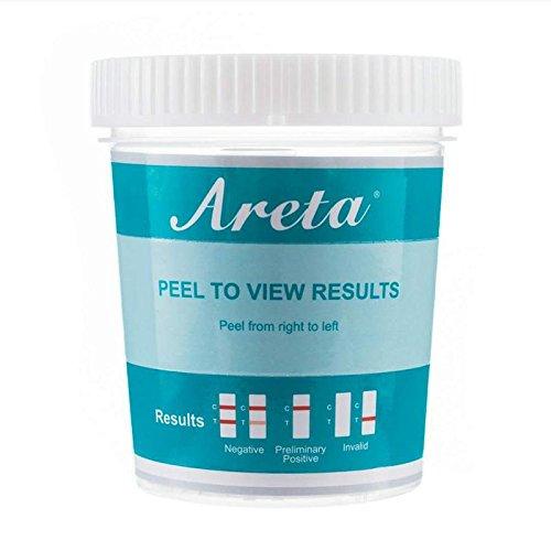 10 Pack Areta 5 Panel Instant Drug Test Cup - Marijuana (THC),Cocaine (COC),Opiate (OPI 2000),Benzodiazepines (BZO), Amphetamine (AMP)- #ACDOA-754 by Areta (Image #1)