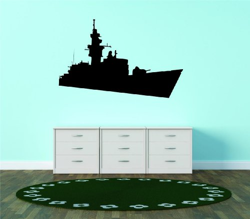 Top Selling Decals - Prices Reduced : Army Destroyer Cruiser Battleship War United States Of America Bedroom Living Room Picture Art Graphic Design Image Mural Size : 20 Inches X 30 Inches - Vinyl Wall Sticker - 22 Colors Available