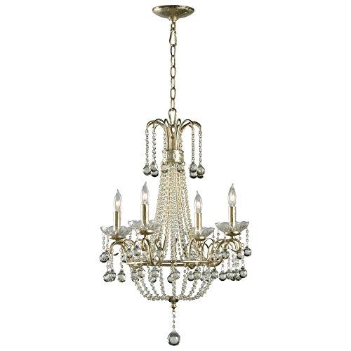 Cyan Designs 01954 Chandelier with Clear Glass Shades, Silver Leaf Finish
