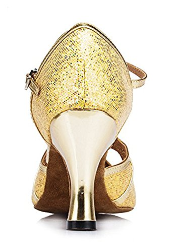 Damen 8cm amp; Modern Jazz Heel Gold Joymod Glitter MGM 7SA1wzUqU