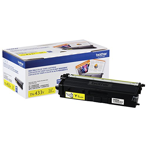 Brother Printer TN433Y High Yield Toner-Retail Packaging , Yellow