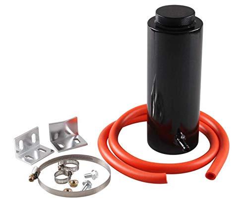 Anngo 800ml Racing Radiator Coolant Overflow Billet Aluminum Oil Catch Tank Round Oil Catch Can Reservoir Black