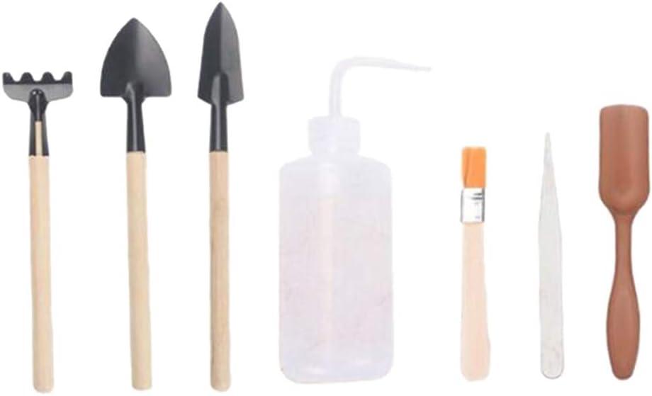 prasku Garden Bonsai Tool Kit de Trasplante de Plantas en Macetas Suculentas de Jardinería - Juego de 7