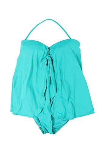 Lauren Ralph Lauren Women's Flyaway Tummy-Control One-Piece Swimsuit, Lagoon, 6
