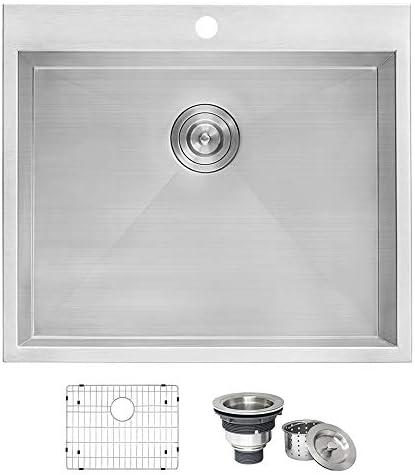 Ruvati Topmount Laundry Utility Sink 25 X 22 X 12 Deep 16 Gauge Stainless Steel Rvu6010 Amazon Com