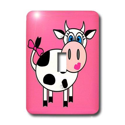3d Rose 3dRose LLC lsp_6095_1 Happy Cow Girl, Single Togg...