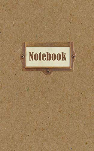 Notebook: Lined Journal - Small (5x8 inch) with 50 Numbered Pages - Soft Matte Cover - Printed Chipboard Bronze Label