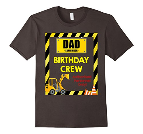 Mens Dad Birthday Crew Shirts Construction Themed Birthday Party Medium (50 Themed Party Clothes)