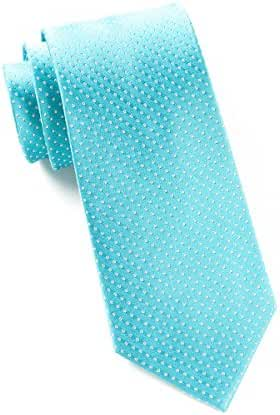 The Tie Bar 100% Woven Silk Turquoise Pindot Tie