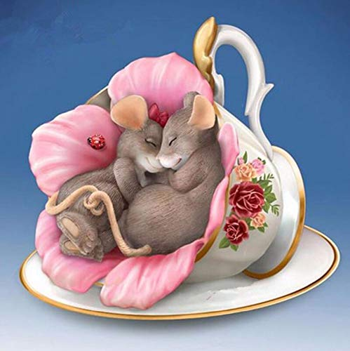 YUMEART Sleeping Mouse Animals Diamond Painting Cross Stitch Full Diamond Embroidery Europe Home Decoration Animal Series