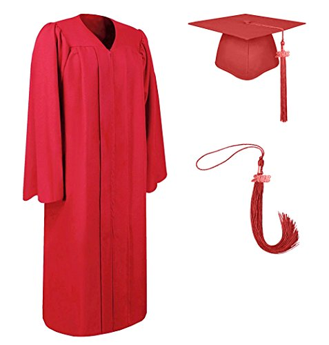 2017 Graduation Gown Cap Tassel Set for High School and College Ceremony---YesGraduation (60(Height 6'4