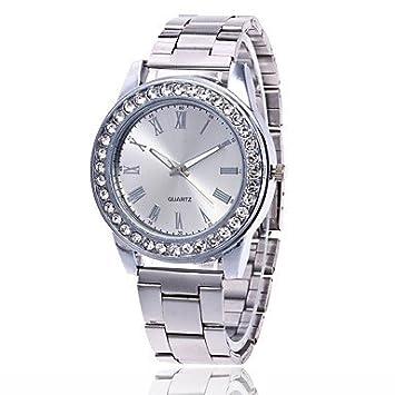 Relojes Hermosos, Hombre Mujer Reloj de Pulsera Reloj Casual Chino Cuarzo Metal Banda Plata Dorado
