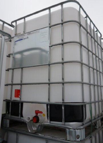 NUEVO Depósito En Caja Nuevo rejilla IBC nuevo acero palé 1250 l Reservorio de agua lluvia Reservorio de agua lluvia coleccionistas Tank Lluvia Tank öltank ...