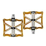 Bike Pedals, Light Aluminum 3 Sealed Bearing Pedal for Mountain and Road Cycle Pedals Universal