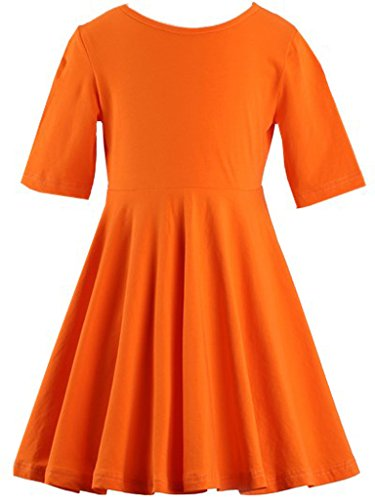 Happy Rose Girls' Cotton Long Sleeve Twirly Skater Party Dress 12 Years]()