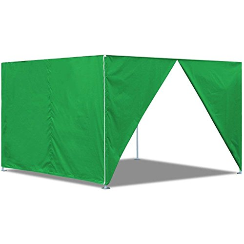 Eurmax 10 x 10 Pop Up Canopy Sidewalls, Zipper End (2 walls only) (Kelly Green) by Eurmax
