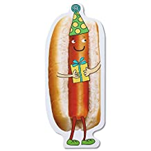 Carlton Cards Funny Hot Dog Birthday Card with Foil