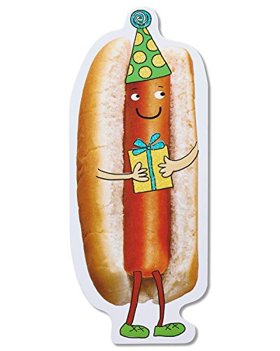 American Greetings Funny Hot Dog Birthday Card with Foil