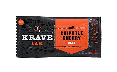 KRAVE Beef Meat Bars, Chipotle Cherry