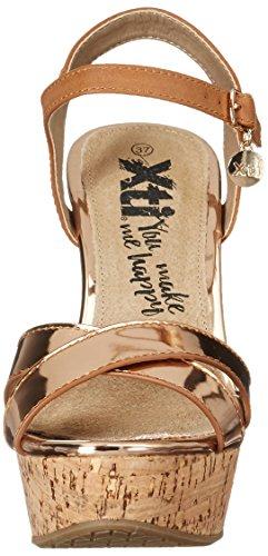 XTI 046589, Sandalias de Tacón Mujer Marrón (Nude)