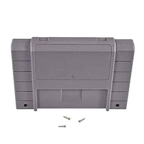 Childhood Grey Cartridge Case shell for Super SNES Systems With 2pcs Screws